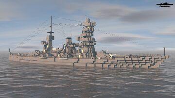 IJN Echigo 1945 1:1 Scale (Fictional Coastal Defense ship) Minecraft Map & Project