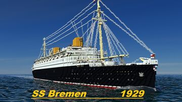 S.S. Bremen 1929 Minecraft Map & Project