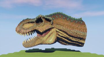 T-Rex head Minecraft Map & Project
