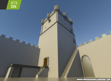 Minecrafteate in RTX, Nº21: Replica of the Atalaya Castle, Villena, Alicante, Spain. Minecraft Map & Project