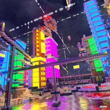 Cyberpunk sci-fi futuristic city map Minecraft Map & Project