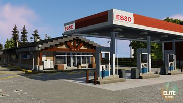 Esso gas station | ERT Minecraft Map & Project