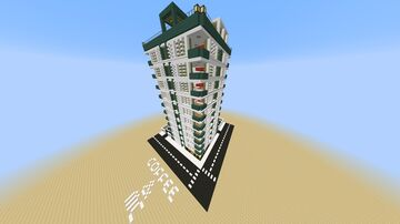Modern Building with Bakery Minecraft Map & Project