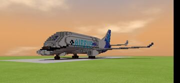 Airbus Beluga XL 1.5:1 scale Minecraft Map & Project