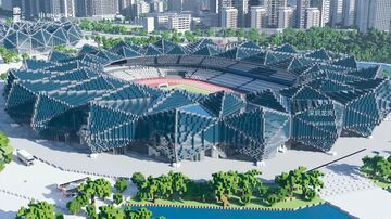 Shenzhen Universiade Sports Center [GNwork × Pixel China Project] Minecraft Map & Project