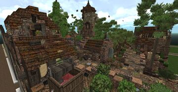 Medieval Spanish Towerhouse Minecraft Map & Project