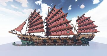 Chinese Ship Minecraft Map & Project