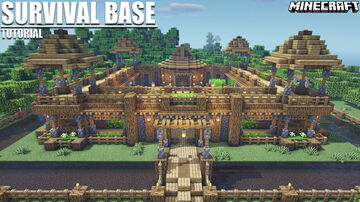Minecraft Survival Base Tutorial + Download Minecraft Map & Project