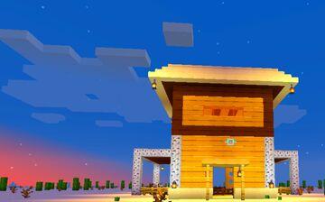 Desert Barn House Minecraft Map & Project