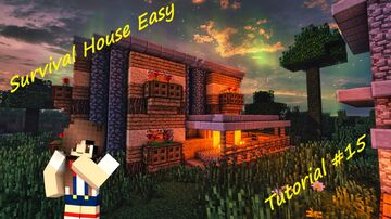 Survival Middle House Easy - Tutorial #15 Minecraft Map & Project