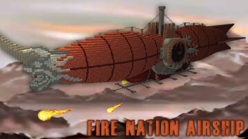 Avatar: Fire nation Airship Minecraft Map & Project
