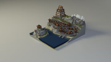 Japanese Style Server Spawn   Aderlyon Build Team Minecraft Map & Project