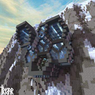 Minecraft Futuristic Laboratory Cliff Base +tutorial Minecraft Map & Project