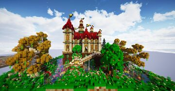 Fantasy Coral Reef Castle Minecraft Map & Project