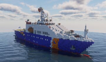 DN-2000 class Vietnam Coast Guard with DOWNLOAD!!! Minecraft Map & Project