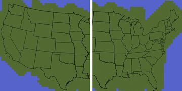 Map of the United States (48 states) Minecraft Map & Project