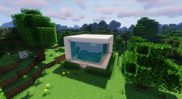 Minecraft Redstone Water House   Download Minecraft Map & Project