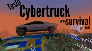 cybertruck in survival Minecraft Map & Project