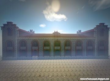 Minecraft replica of the Provincial Historical Archive of Teruel, Spain. Minecraft Map & Project