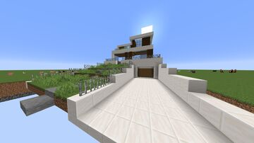 Modern House Front facade Minecraft Map & Project