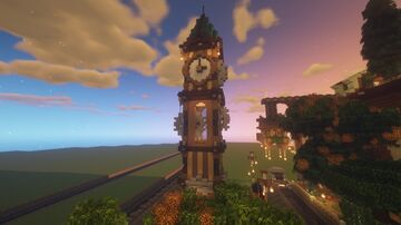 Steampunk Clock tower by Mindfvl - 1.14-1.16 Minecraft Map & Project