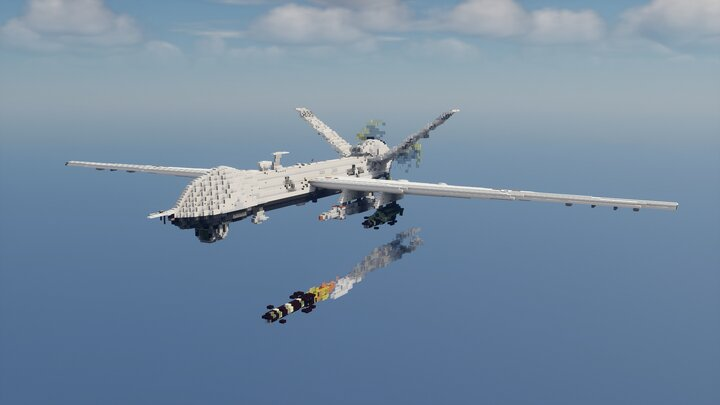 Popular Server Map : General Atomics MQ-9 Reaper, 11th Reconnaissance Squadron 432nd Wing - 10:1 Scale