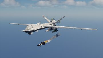 General Atomics MQ-9 Reaper, 11th Reconnaissance Squadron 432nd Wing - 10:1 Scale Minecraft Map & Project