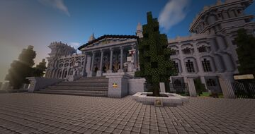 Le Parlement de l'Empire Allemand - inspired from the Reichstag Minecraft Map & Project
