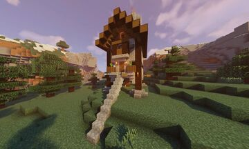 Medieval Type Survival House! | Built in Survival! | Has 4 Floors! Minecraft Map & Project