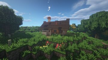 Medieval house with villagers Minecraft Map & Project