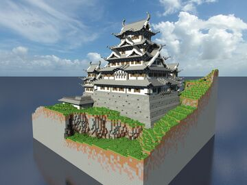 Himeji Castle - 1.5:1 Minecraft Map & Project