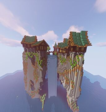 Medieval village on a mountain Minecraft Map & Project