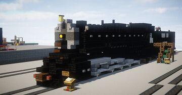 [1:5:1 Santa Fe ATSF 3751 Minecraft Map & Project