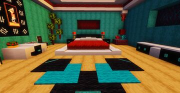 🛏️ Modern bedroom 1.16.1 🛏️ Minecraft Map & Project