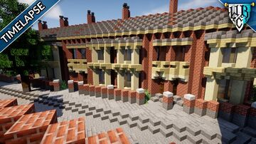 Diagonal British Terraced Houses Minecraft Map & Project