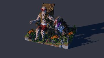 Human and Dog Organic Minecraft Map & Project