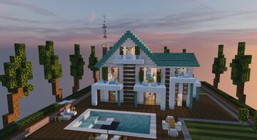 Family Home w/ pool Minecraft Map & Project