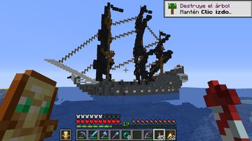 Black Pearl of Pirates of the Caribbean. Minecraft Map & Project