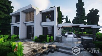 Modern Villa | with interiors | MFC | Minecraft Map & Project