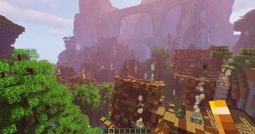 Medieval City on an Amplified World Minecraft Map & Project