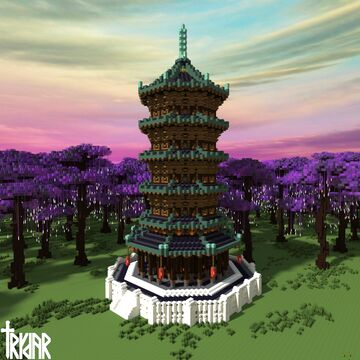 Japanese Pagoda +tutorial Minecraft Map & Project