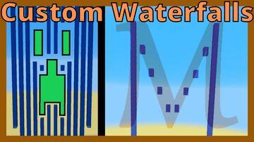Custom Waterfall Design 2000 Minecraft Map & Project