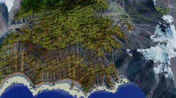 3k by 4k Custom Terrain Map Minecraft Map & Project