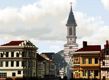 Katholische Stadtpfarrkirche Mariae Namen, Neustadt, Hanau, Hesse, Germany Minecraft Map & Project