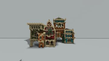 Beauclair facades Minecraft Map & Project