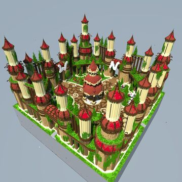 🍀 Factions spawn with Warzone [650x650] 🍀 Minecraft Map & Project