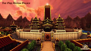 The Fire Nation Palace | Rokucraft Minecraft Map & Project