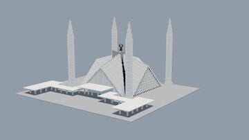 Faisal Masjid, Islamabad 1.5:1 Minecraft Map & Project