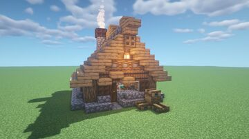 Small Basic Medieval House Minecraft Map & Project
