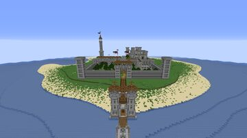 Castle of the island of Endera Minecraft Map & Project